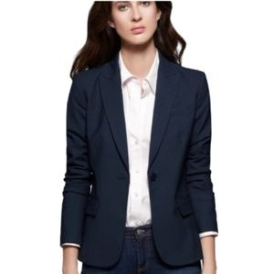 Theory Stretch Wool Gabe Blazer Single Button 0